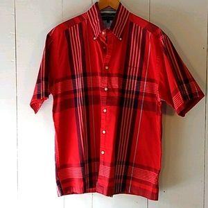 tommy hilfiger button down plaid shirt